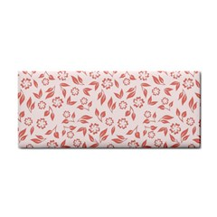 Red Seamless Floral Pattern Hand Towel