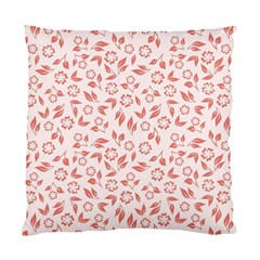 Red Seamless Floral Pattern Standard Cushion Case (One Side)