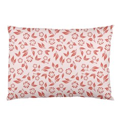 Red Seamless Floral Pattern Pillow Case