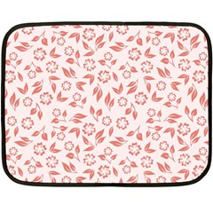 Red Seamless Floral Pattern Fleece Blanket (mini)