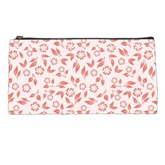 Red Seamless Floral Pattern Pencil Cases