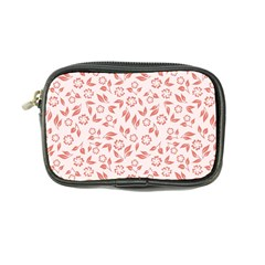 Red Seamless Floral Pattern Coin Purse