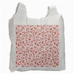 Red Seamless Floral Pattern Recycle Bag (two Side)