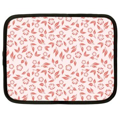 Red Seamless Floral Pattern Netbook Case (xxl)
