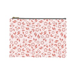 Red Seamless Floral Pattern Cosmetic Bag (large)