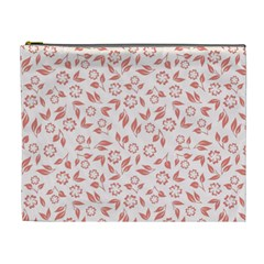 Red Seamless Floral Pattern Cosmetic Bag (xl)