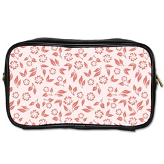Red Seamless Floral Pattern Toiletries Bags 2-Side