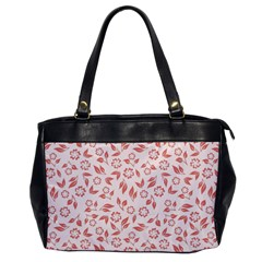 Red Seamless Floral Pattern Office Handbags