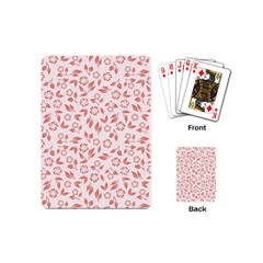 Red Seamless Floral Pattern Playing Cards (Mini)
