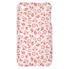 Red Seamless Floral Pattern Apple iPhone 3G/3GS Hardshell Case