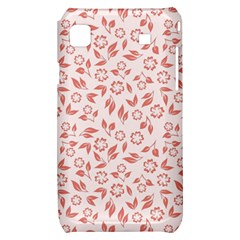 Red Seamless Floral Pattern Samsung Galaxy S i9000 Hardshell Case