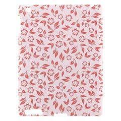 Red Seamless Floral Pattern Apple iPad 3/4 Hardshell Case