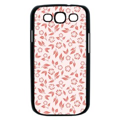 Red Seamless Floral Pattern Samsung Galaxy S III Case (Black)