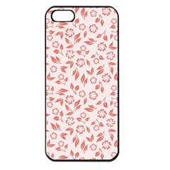 Red Seamless Floral Pattern Apple Iphone 5 Seamless Case (black)