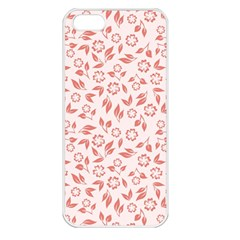 Red Seamless Floral Pattern Apple iPhone 5 Seamless Case (White)
