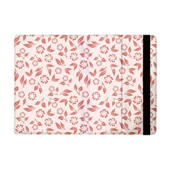 Red Seamless Floral Pattern Apple iPad Mini Flip Case