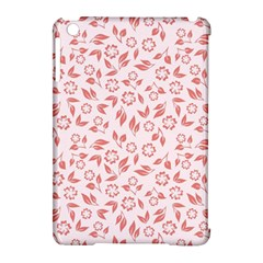 Red Seamless Floral Pattern Apple iPad Mini Hardshell Case (Compatible with Smart Cover)