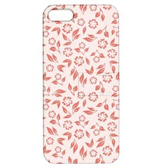 Red Seamless Floral Pattern Apple iPhone 5 Hardshell Case with Stand