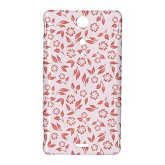 Red Seamless Floral Pattern Sony Xperia TX