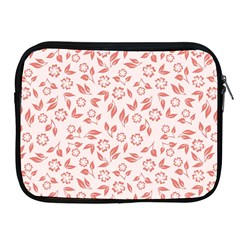 Red Seamless Floral Pattern Apple iPad 2/3/4 Zipper Cases