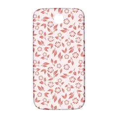 Red Seamless Floral Pattern Samsung Galaxy S4 I9500/I9505  Hardshell Back Case