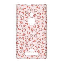 Red Seamless Floral Pattern Nokia Lumia 925