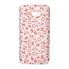 Red Seamless Floral Pattern HTC Butterfly S/HTC 9060 Hardshell Case