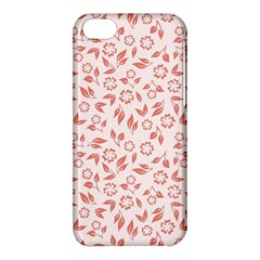 Red Seamless Floral Pattern Apple iPhone 5C Hardshell Case