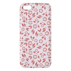 Red Seamless Floral Pattern iPhone 5S/ SE Premium Hardshell Case