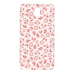 Red Seamless Floral Pattern Samsung Galaxy Note 3 N9005 Hardshell Back Case