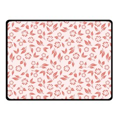 Red Seamless Floral Pattern Double Sided Fleece Blanket (small)