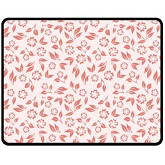 Red Seamless Floral Pattern Double Sided Fleece Blanket (medium)