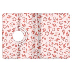Red Seamless Floral Pattern Kindle Fire HDX Flip 360 Case