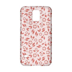 Red Seamless Floral Pattern Samsung Galaxy S5 Hardshell Case