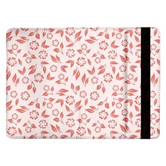 Red Seamless Floral Pattern Samsung Galaxy Tab Pro 12.2  Flip Case