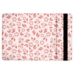 Red Seamless Floral Pattern iPad Air Flip