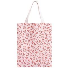Red Seamless Floral Pattern Classic Light Tote Bag