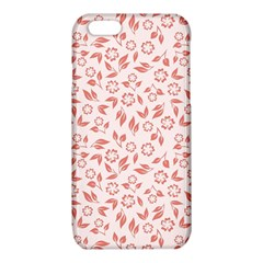 Red Seamless Floral Pattern iPhone 6/6S TPU Case