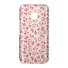 Red Seamless Floral Pattern HTC One M9 Hardshell Case