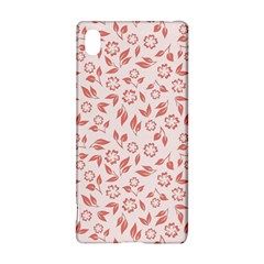 Red Seamless Floral Pattern Sony Xperia Z3+
