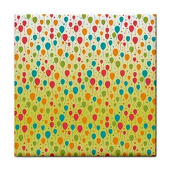 Colorful Balloons Backlground Tile Coasters