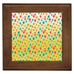 Colorful Balloons Backlground Framed Tiles