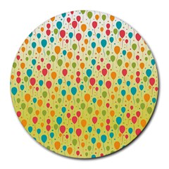 Colorful Balloons Backlground Round Mousepads