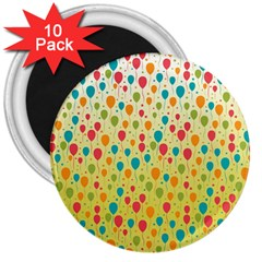 Colorful Balloons Backlground 3  Magnets (10 pack)