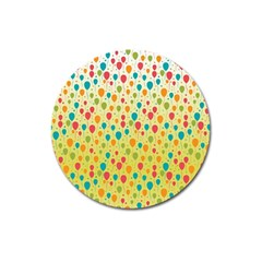 Colorful Balloons Backlground Magnet 3  (Round)