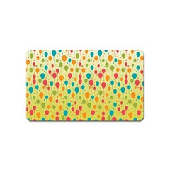 Colorful Balloons Backlground Magnet (Name Card)