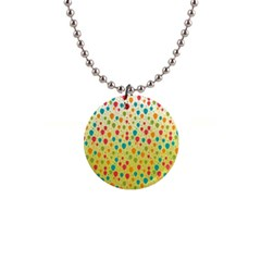 Colorful Balloons Backlground Button Necklaces