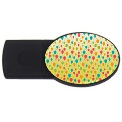 Colorful Balloons Backlground USB Flash Drive Oval (4 GB)