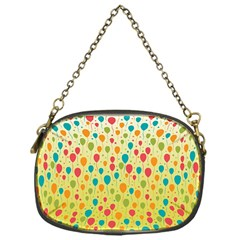 Colorful Balloons Backlground Chain Purses (One Side)