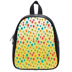 Colorful Balloons Backlground School Bags (Small)